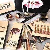 Wholesale 1PCS Sale New Kylie Jenner Limited Birthday Edition Kylie Matte liquid Lipstick mini gold kylie lip kit colors