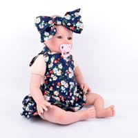 baby ink - 2016 New Summer Baby big bowknot headband Girls Dresses Romper plus Cross headband combination Set Ink blue flower Pattern skirt romper