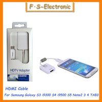 Wholesale 10 MHL P HDTV Micro USB To HDMI Adapter Cable for Samsung Galaxy S4 S5 S3 i9300 Note2 Note Adapter