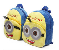 Wholesale Cute Cartoon Despicable Me Minions backpack Children Boy Girl School Bagpacks Kid Children s Bags Rucksack by DHL