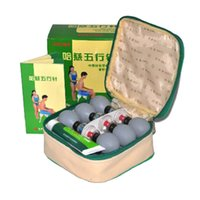 Wholesale 18 Silver Haci Magnetic Therapy Suction Cup household Vacuum Acupressure acupuncture and moxibustion Cupping Set Health Care