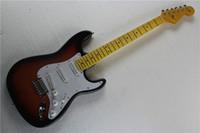 basswood strat body - Custom Shop Sunburst Pickups Vintage Bridge Maple Fingerboard Chrome Hardware Electric Guitar Strat