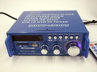 Wholesale Cheap New mini Home Audio Amplifier card USB HiFi FM Radio with Bluetooth DC V V dual FOR Russia