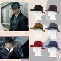 Wholesale Unisex Hard Felt Wide Brim Ribbon Warm Wool Blend Hat Bowler Trilby Style Fashion Hot Selling