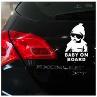 Wholesale Car Exterior Decoration Accessories - Exterior Accessories Car Stickers 1PCS car styling3D waterproof Baby On Board car sticker cool baby car decoration FREE SHIPPING