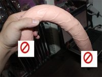 Wholesale Double Head Dildo Realistic Penis Extra Long Dildo Double Head Penis Double Dong Sex Toys for Women Ladies Gay Sex Products