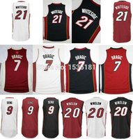 Wholesale Retail Hassan Whiteside Jersey Goran Dragic Luol Deng Justise Winslow Ennis Black Basketball Jerseys