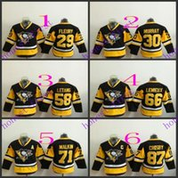 american pittsburgh - Youth Pittsburgh Penguins Marc Andre Fleury American Premier Hockey Jerseys Ice Winter Home Away Jersey Stitched Authentic