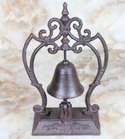 bell service hotel - European Style Large Pedestal Rustic Fleur de Lis Cast Iron Service Bell Hotel Bell Desk Bell Dinner Bell Decor