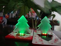 Wholesale 2016 Chrismas Gift Classic LED Card Lamps Christmas Tree Night Light Atmosphere lights Supplied by a Button batteries