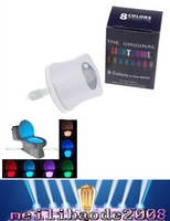 auto emergency light - 2016 Smart LED Motion Auto Sensor Activated Toilet Night Light With Color Changing Battery Operated Washroom Bathroom MYY23