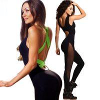 Wholesale Sexy Lady Bandage Jumpsuit Cross Halter Bodysuit Summer Women Rompers One Piece Set Backless Ukraine Playsuit