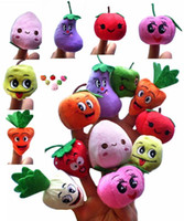 Cheap Soft Fruit & Veggie Finger Puppets Set Finger Puppet Dolls Toys Story-Telling Props Tools Toy Model Babies Kids Children Toys 500PCS