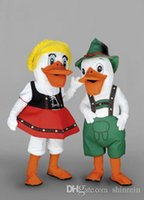 alpine pictures - Ohlees Actual Picture Mr Mrs Alpine Duck cartoon Mascot Costumes Character For Halloween Party Activity Fancy Christmas Adult Size