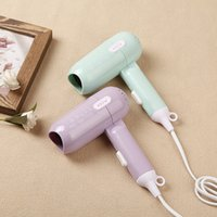 Wholesale Mini Power Fold Hair Drier Electric Hair Dryer Hairdressing Blow Canister Student Dormitory Household Electrical Appliances An Electric App