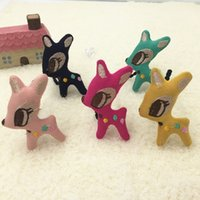 baby ponytail holders - 10pcs C Fashion Cute Polka Dot Deer Baby Girls Elastic Hair Bands Solid Cartoon Animal Rope Gum Rubber Bands Ponytail Holder
