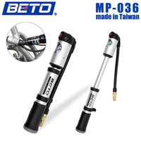 Wholesale BETO Portable Cycling Bicycle Bike Shock Absorber Suspension Pump Tire Inflator Air Pump with Pressure Gauge PSI MP