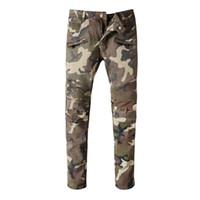 Wholesale New Designer Brand Paris Hole Ripped Jeans Men Plus Size Pierre Men s Skinny Jeans Male Biker Jeans Men Casual Pants Cheap Trousers