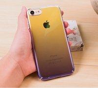 aurora gold - Originality Hard PC Case For iPhone luxury Aurora Gradient Color Transparent Case For iPhone s Plus light Cover Case