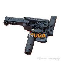 airsoft aeg - 2016 Glock Airsoft sports GunStock CAA SRS Multi Position Sniper Rifle Stocks For M16 SR25 A2 AEG Rifle B Type Black and TAN