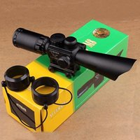 Wholesale Rifle Scope x40 Red Green Illuminated Range Finder Reticle Crosshair Gun Scopes With Red Laser Sight