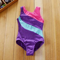 ballet leotards children - Girls Kids Children Gymnastics Ballet Leotards Latin Dance Costume Y Dancewear Dancing Clothes