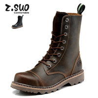 ankle riding boots - Real Leather Men Military Boots Men s Motorcycle Riding Hunting Casual Walking Shoes Brad Designer Stylish High Top Flats