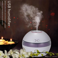 led light diffuser - USB Humidifier Aroma Oil Diffuser Air Purifier Mist Maker LED Night Light Home Office H16443