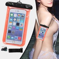 apple pouchs - IPX8 Waterproof Phone Bag PVC Underwater Pouchs Bag Cover Neck Bags Swim Diving Resistant Case Suitable for all under inches phones
