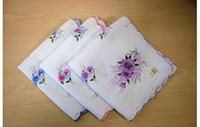 Wholesale 24pcs Ladies kids Vintage Cotton Floral Embroidered pocket Handkerchiefs pocket squares
