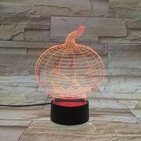 art pumpkin - 3D Pumpkin atmosphere LED lights Changing The Color Of Kids Room Art Sculpture Lamp Night light