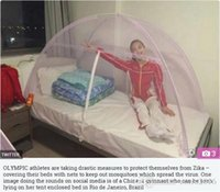Wholesale mosquito net Chinese Olympic athletes only Mosquito nets folding scaffold student zipper bottomed M M Mm bed red