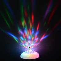 Wholesale W AC85 V Two mode Cool white RGB Led Spotlight Auto Rotating Stage Light For Holiday KTV Bar Disco Party Led Bulb Lamp