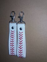 baseball holders - 2016 factory is cheap baseball keychain fastpitch softball accessories baseball seam keychains
