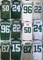 Wholesale 100 Stitched Men s NY Jets Matt Forte Eric Decker Darron Lee Brandon Marshall Jerseys Free Drop Shipping