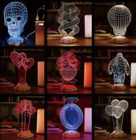 ball candles shopping - New Creative Touch LED D light illusion big hero USB Touch Night Light Sculpture Desk Lamp Art Room shop Christmas Decor festive party gift