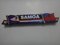 american flag window sticker - shinning laser printing WESTERN SAMOA AMERICAN SAMOA flag sticker inch x inch cm x cm