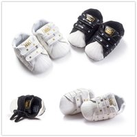 Wholesale 2016 Brand New Baby Shoes Soft PU Leather Kids Shoes Toddlers Moccasins Fashion Stars Printing Girls Boys Shoes