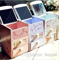 Wholesale by DHL New Delicate cabinet two drawer Box Wooden cosmetic two extraction jewelry Box RJ1230 dd