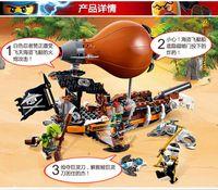 Wholesale 318pcs new LEPIN phantom Ninjago Zeppelin Raid Building Blocks Minifigures Zane Doubloon Compatible With Lego70603