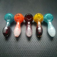 glass pipes - Heady Glass Pipes Oil Burner Glass Pipe Hand Smoking Glass Spoon Pipes quot inch Colored Tobacco Dry Herb Glass Smoking Pipes