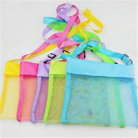 baby gift bags wholesale - Kids Mesh Beach Bag Sand Toys Organizer Storage Bags Shell Pouch Receive Bag Children Sandboxes Boys Girls Baby Gifts