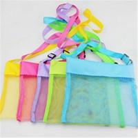 achat en gros de jouets pour enfants filles-Kids Mesh sac de plage Sable Jouets Organisateur Sacs de rangement Shell Pouch Recevoir Sac Enfants Sandboxes 2016 Boys Girls Baby Gifts en gros