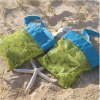 Meilleur prix!!! 24 * 24cm Beach Fashion Mesh Sacs de sable extérieur Collection Toy Sac de stockage pour Sea Shell Enfants Enfants Tote Organizer Sacs de rangement