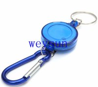 belt key chains - Mini Practical Multicolor Badge Spreader Carabiner Retractable Reel Strap Belt Clip Key Chain
