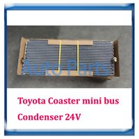 Wholesale 24V Toyota Coaster mini bus ac condenser X350X15mm