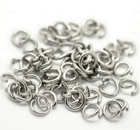 Wholesale 1000pcs More Size Jewelry Findings accessories Strong stainless steel silver Jump Ring Split Ring DIY Jewelry Finding Components