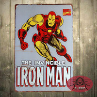 Wholesale Iron Man Marvel comic Retro home deocr x cm Rustic Metal Tin Sign Man cave