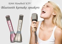 aluminum condenser - K068 Wireless Microphone Microfone With Mic Bluetooth Speaker Condenser Mini Karaoke Player KTV Singing Record