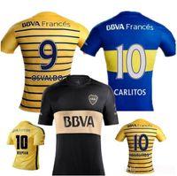 Wholesale Benwon BOCA Soccer shirts Carlos Tevez Morbi Jersey camisas de futebol Riquelme Gago Gigliotti Fotball jerseys Carlitos Boca Juniors